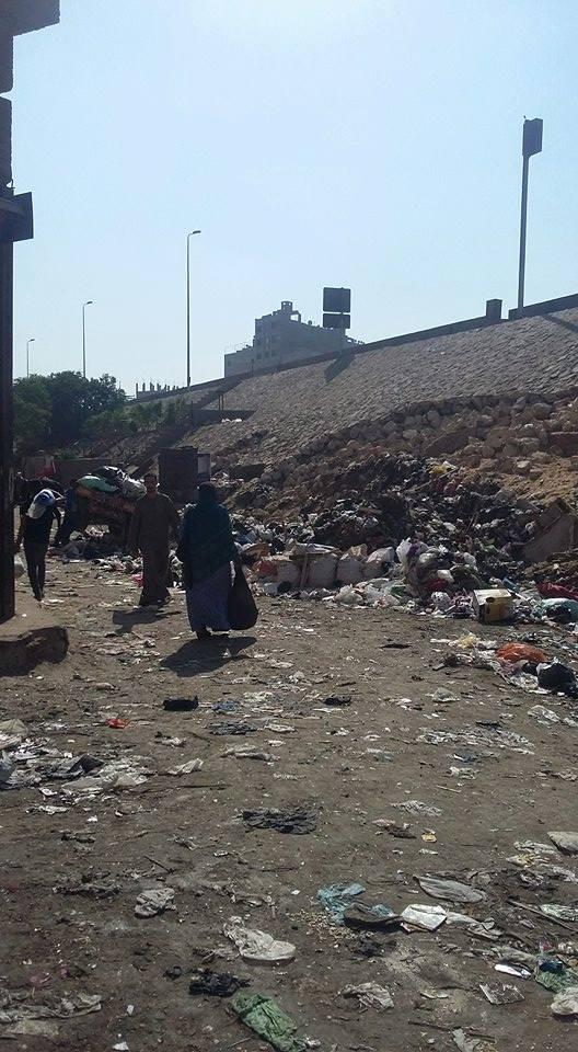 تراكم القمامة عَ الدائري قرب ناهيا بالجيزة (صور)