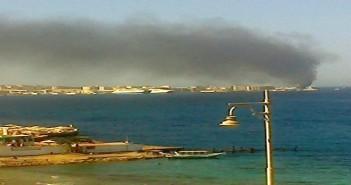 حريق بأحد فنادق الغردقة.. والحماية المدنية تسيطر عليه (صور)
