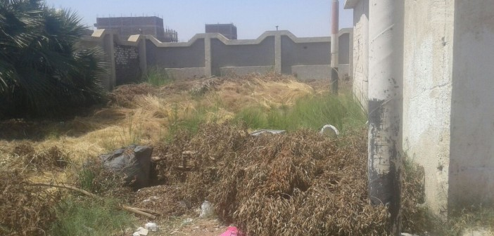 📸تجمعات للمخلفات والقمامة بجوار مستشفى أرمنت بالأقصر