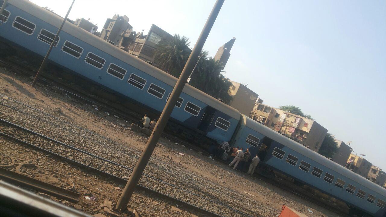 تعطل قطار في محطة رمسيس