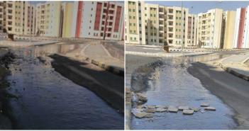 غرق شوارع وحدات الإسكان الاجتماعي بالقاهرة الجديدة بعد تسليم الشقق بأيام(صور)