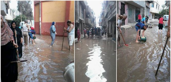 📸بالصور.. المياه تغمر شوارع الحرس الوطني في بنها وسط تجاهل المسؤولين