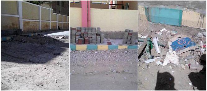 بالصور.. تهالك مبان مدرسة في عرب غنيم بحلوان تثير مخاوف أولياء الأمور