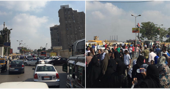 بالصور.. أهالي يقطعون طريق الكورنيش احتجاجًا على اختفاء اللبن المدعم.. وشلل مروري بـ«المؤسسة»