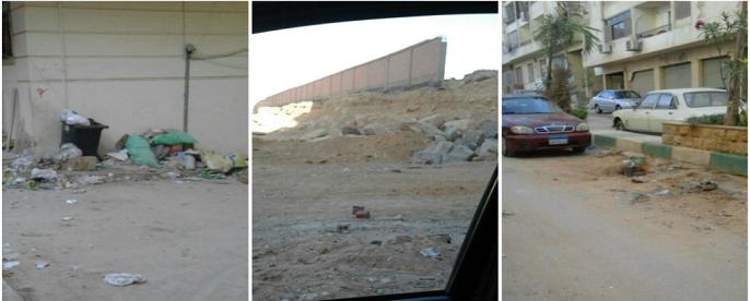 سكان مدينة «عباد الرحمن» بالقطامية يشكون تكسر شوارعها وانتشار القمامة (صور)