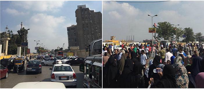 بالصور.. أهالي يقطعون الكورنيش احتجاجًا على وقف توزيع اللبن المدعم (تحديث)