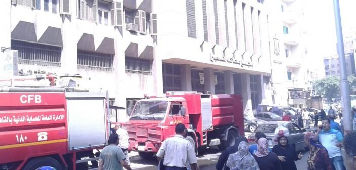 بالصور.. اندلاع حريق في محكمة «زنانيري» بشبرا.. وإخلائها لإخماده