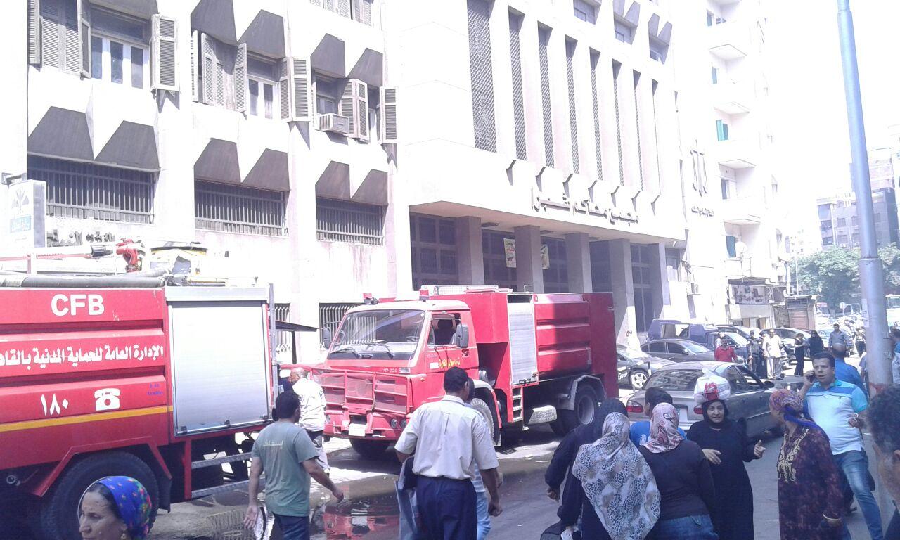 بالصور.. اندلاع حريق في محكمة «زنانيري» للأحوال الشخصية بشبرا الخيمة