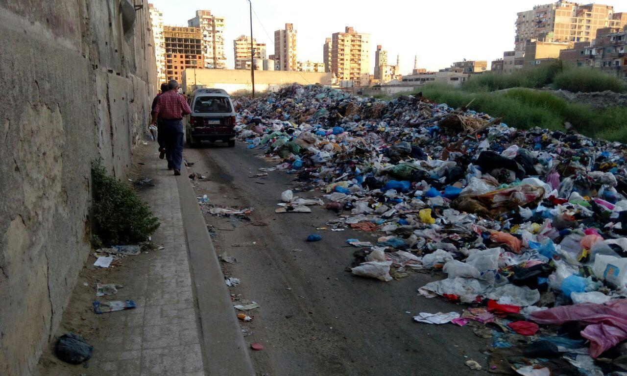 تراكم القمامة في شوارع بكرموز بالإسكندرية (صور)