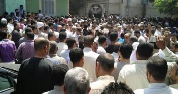 أهالي «الجعافرة» يشيعون جثمان شهيد القوات المسلحة في تفجير مدرعة بالعريش (فيديو وصور)