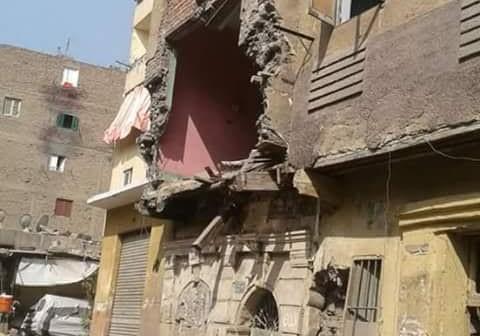 انهيار جزئي لمنزل بالسيدة زينب في غياب تدخل مسؤولي الحي (صورة)