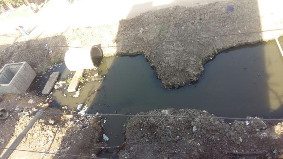 أهالي «الأورمان» يطالبون باستكمال ردم مصرف القرية وإنقاذهم من التلوث (صور)