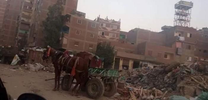 مواطنو «كفر الشرفا» يطالبون حي المرج برفع القمامة من الشوارع (صور)