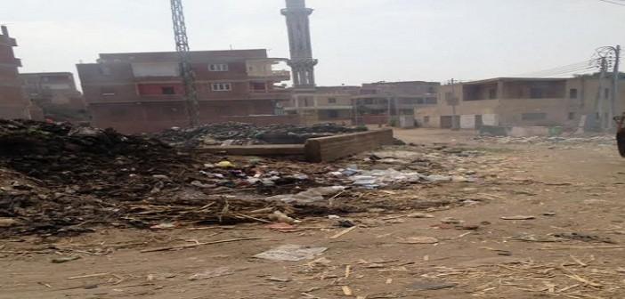 أهالي «كفر الحارث» يشكون انتشار القمامة.. وتجاهل مسؤولي القليوبية (صور)