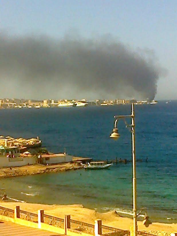 حريق بأحد فنادق الغردقة وقوات الإطفاء تسيطر عليه (صور)