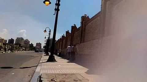 📸أعمدة الإنارة مضاءة نهاراً قرب المنطقة الشمالية بالإسكندرية