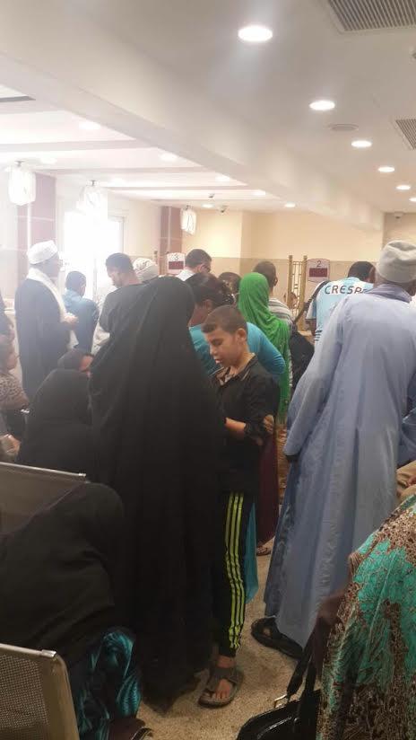 مواطنون يشكون بطء العمل وتأخر الموظفين ببنك مصر بمغاغة(صور)