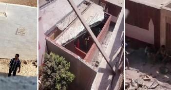 أسرة تضرب عن الطعام «بتلا»إعرتضاً على تعطيل تنفيذ قرار إزالة مقابر بجوار منزلهم(صور)