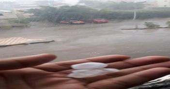 بالفيديو.. ثلج وأمطار غزيرة بمدينة الغردقة