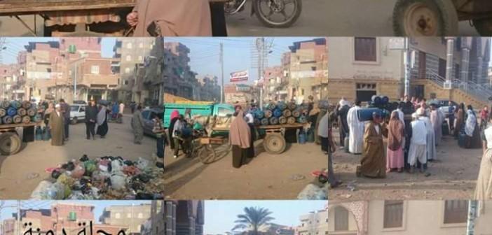 📸أزمة في أنابيب البوتاجاز بمركز محلة دمنة بالدقهلية