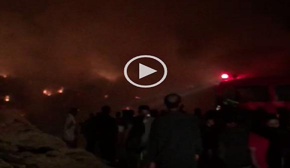 ▶️بالفيديو.. لحظة اندلاع حريق بأراضٍ زراعية في «برمبال القديمة» بالدقهلية