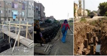 بالصور.. أعمال حفر للسكك الحديدية بالقناطر الخيرية تثير غضب المواطنين: «مصيدة للأطفال وكبار السن»