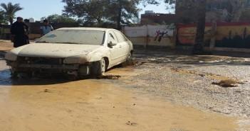 صور| شوارع رأس غارب بعد سيول الليلة الماضية.. ومواطن: الحزن يخيم عَ المدينة
