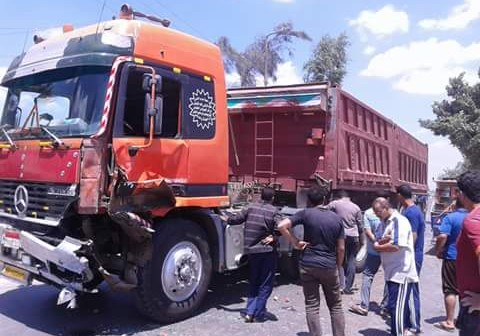 أهالي «شبرا أوسيم» بالبحيرة يطالبون بمطبات صناعية لوقف حوادث النقل الثقيل (صور)