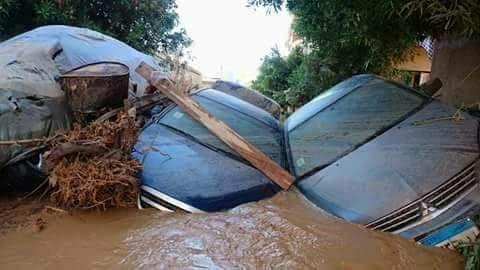 البحر الأحمر| مشاهد من أضرار أزمة السيول في رأس غارب (صور)
