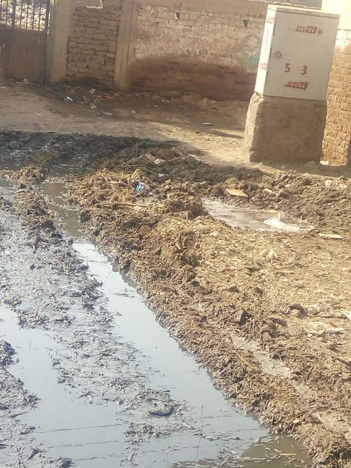 مياه الصرف تحاصر «كفر ربيع»..والأهالي يشكون تجاهل المسئولين لهم (صور)