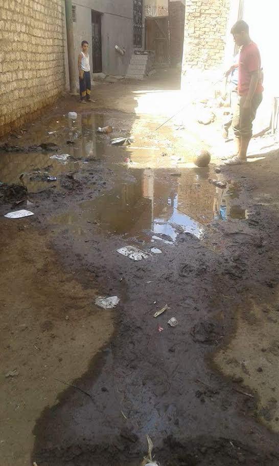 المنوفية| غرق شوارع ومنازل «قرية مشيرف» بمياه الصرف الصحي (صور)