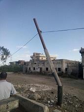 صور| تردي أعمدة الإنارة على طريق كفر الدوار ـ الإسكندرية الزراعي