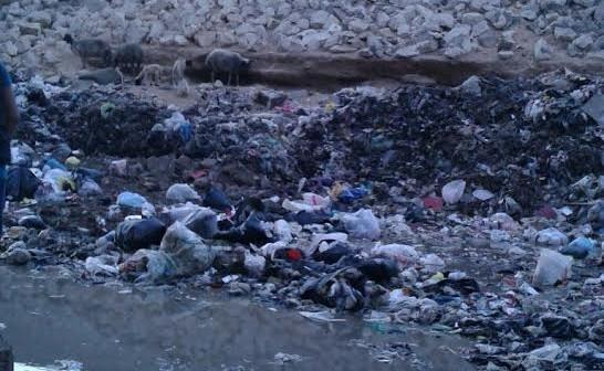 تجمعات القمامة تحاصر الدائري في «نزلة ناهيا» (صور)
