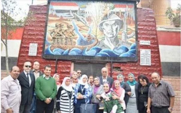 فريق تنفيذ جدارية نصر أكتوبر