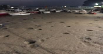 صورة | مراكب ويخوت عالقة في الطين بعد جفاف ضفاف النيل بالمعادي