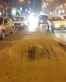مواطن يحذر من حفرة في  «شارع بن الحكم» بالزيتون تُسبب حوادث مرورية(صور)