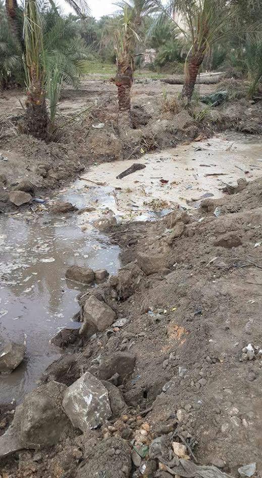 بالصور.. ماسورة مياه مكسورة بقرية «الجزيرة» منذ 3 أشهر دون إصلاحها (صور)