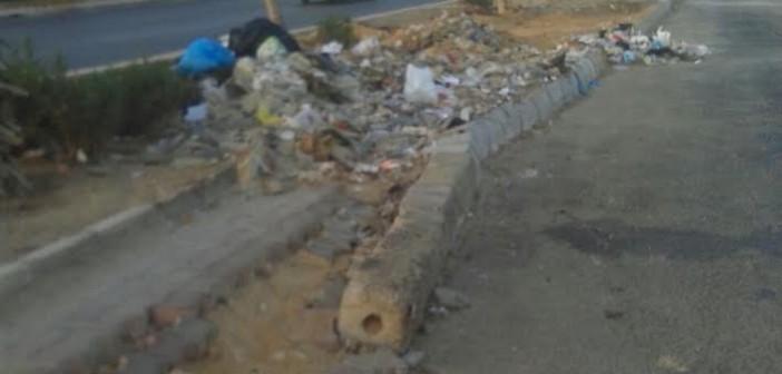 سكان التجمع الأول يشكون إهمال جهاز المدينة للطرق وانتشار القمامة (صور)