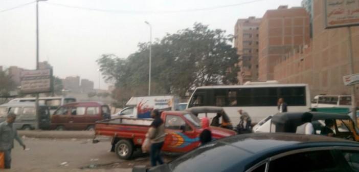 مطالب بتواجد أمني لتسهيل المرور أمام نزلة الدائري بـ«القومية العربية» (صور)
