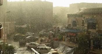 أرشيفية - سقوط أمطار بالشيخ زايد 2015