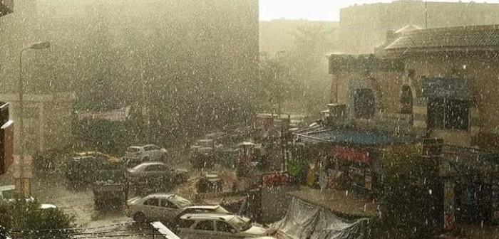 فيديو | لحظة سقوط الأمطار في «باكوس» بالإسكندرية