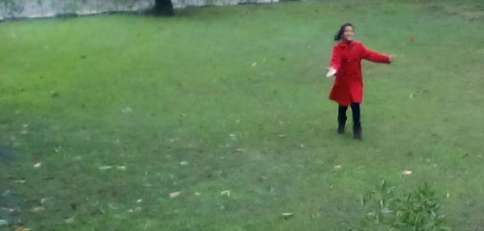 ودي فرحة بنت اسمها «جنة» بسقوط الأمطار في القناطر الخيرية 😄