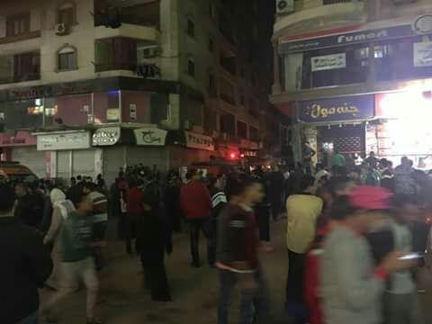 بالصور.. انفجار أنابيب بوتاجاز في فرن بلدي بجسر السويس