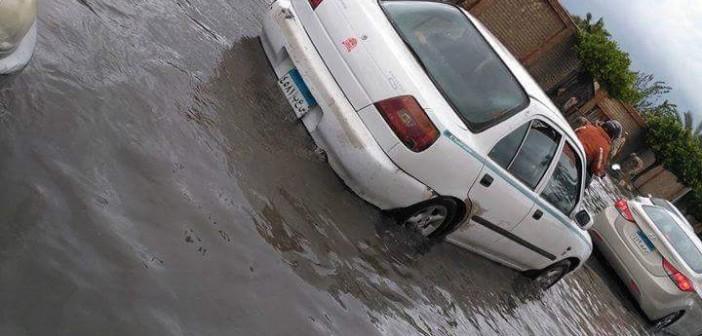 بالصور.. تعطل حركة المرور في مناطق مختلفة بالإسكندرية بسبب الأمطار