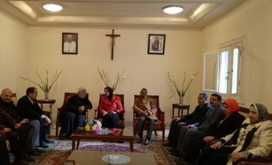 وفد إدارة الجمرك التعليمية يزور بطريركية الأقباط الكاثوليك بالإسكندرية (صور)