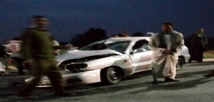 مصرع شخص وإصابة 3 في تصادم ملاكي ودراجة بخارية على طريق قنا – الأقصر (صور)