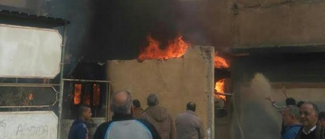لحظة اندلاع حريق في مدرسة «جمال عبدالناصر» بالنزهة (صور وفيديو)