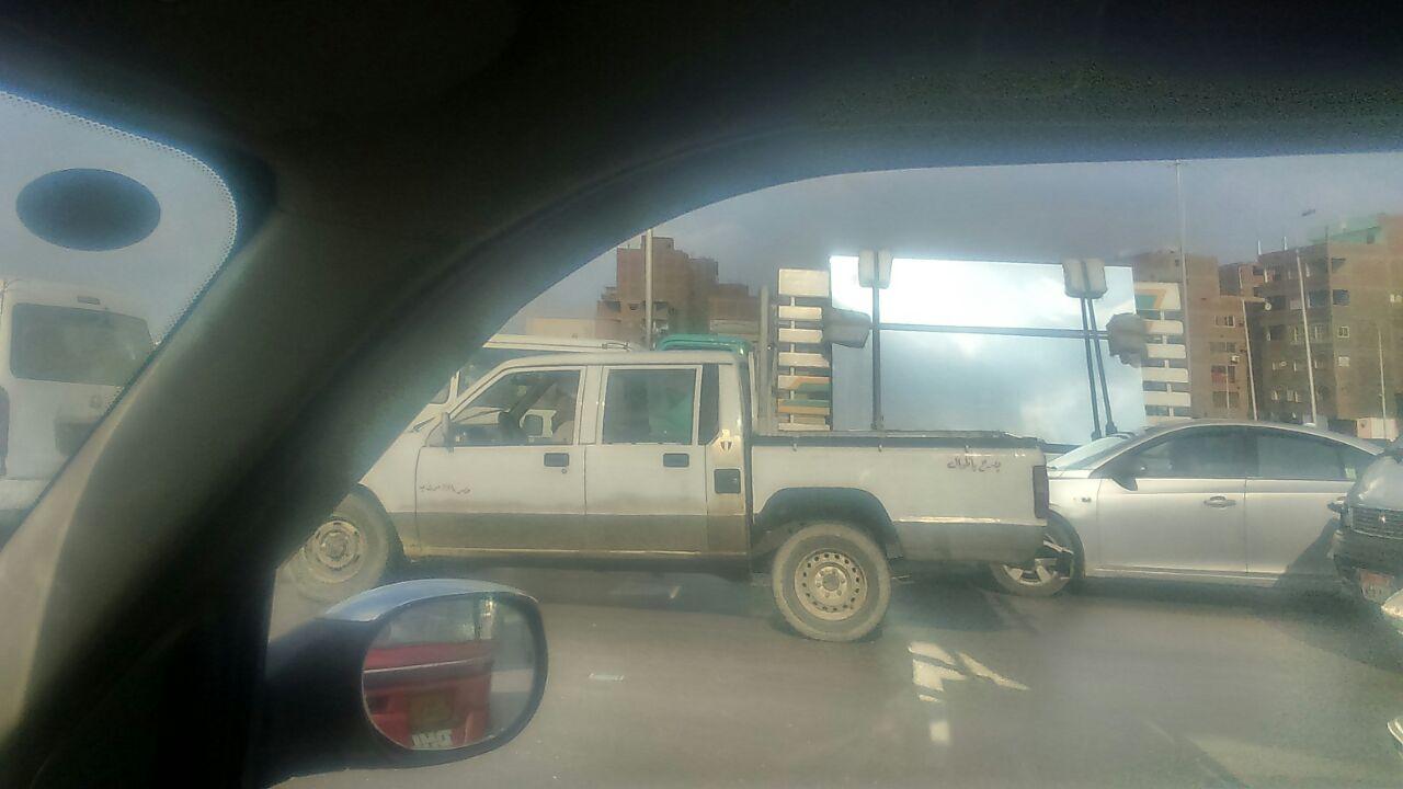 شلل مروري على دائري الزراعي من المرج إلى مسطرد (صور)