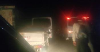 المنوفية.. شلل مروري تام على طريق كفر داود – منوف (صور)