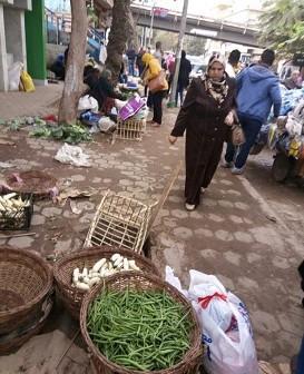 سكان شارع 9 بالمعادي بشكون انتشار الباعة الجائلين والأسواق العشوائية (صور)